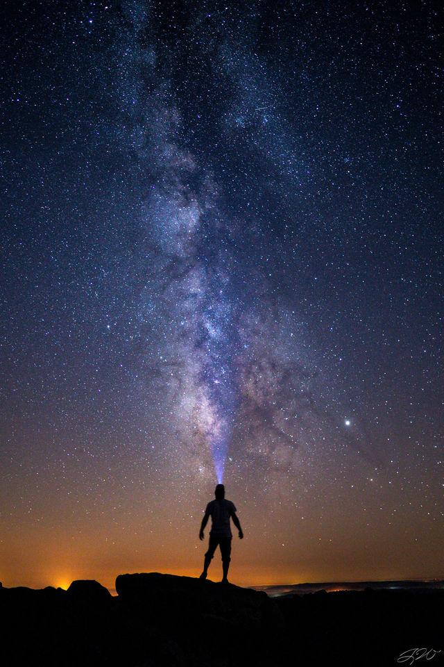 Astrophotography, Milky Way, Night Sky, Nightscape, Sony Alpha, Stars, person