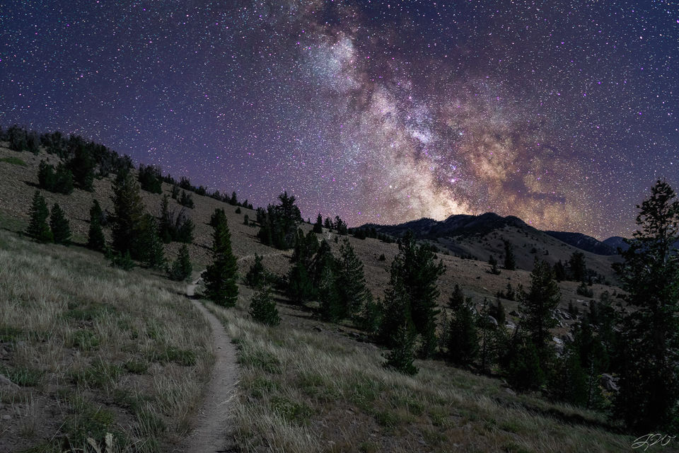 mountains, milky way, night sky, astrophotography, sony alpha, sigma, galactic, path