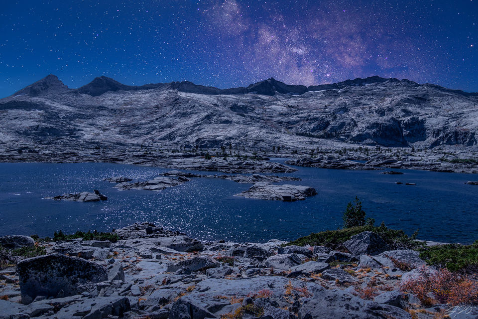 milky way, lake tahoe, california, the crystal range, mountains, astrophotography, tahoe rim trail, sierra nevada
