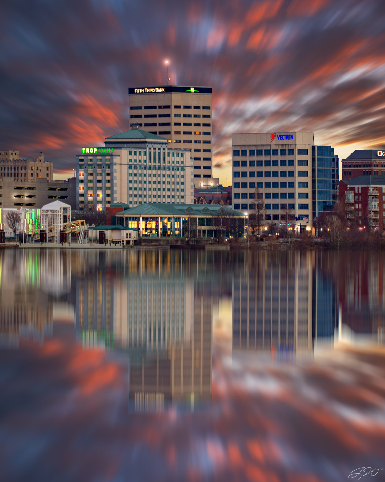 Fine Art Limited Edition of 100. Long exposure over The Evansville Skyline. I've never captured the downtown area from this...